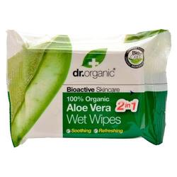 Dr. Organic Wet Wipes Aloe Vera - 20 stk