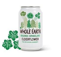 Whole Earth Elderflower Soda i dåse Øko. - 330 ml.