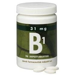 B1 depottablet 31 mg - 90 tabletter
