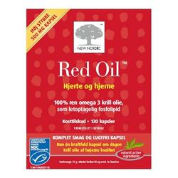 Red Oil omega-3 krill olie - 120 kapsler