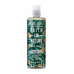 Faith in nature Shampoo Blue Cedar mænd 400 ml.
