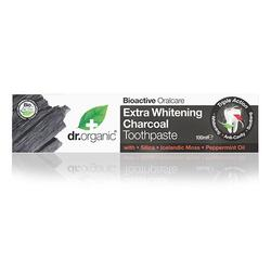 Tandpasta Extra Whitening Charcoal Dr. Organic - 100 ml.