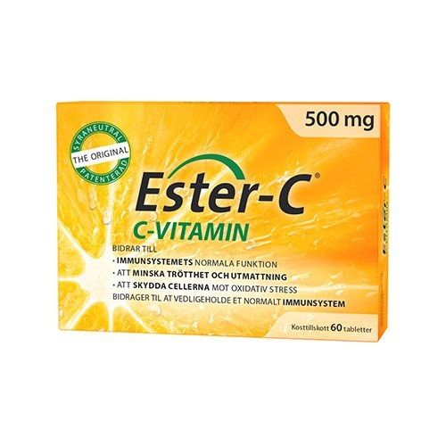 Ester C - C vitamin 500 mg - 60 tabletter