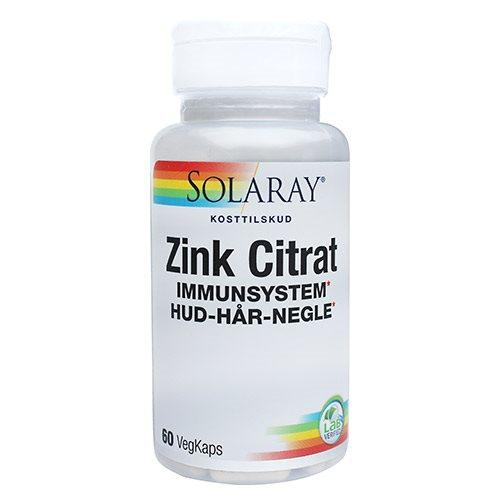 Zink Citrat Solaray 20 mg 60 kapsler