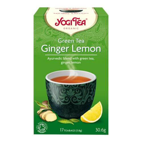 Yogi Green Tea Ginger Lemon Øko. - 17 breve