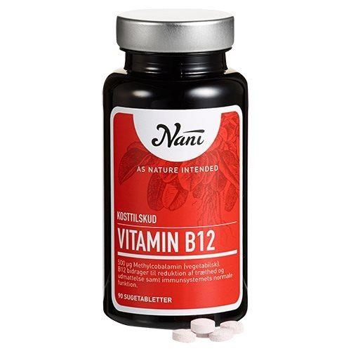 Nani Food State B12 vitamin - 90 tabletter