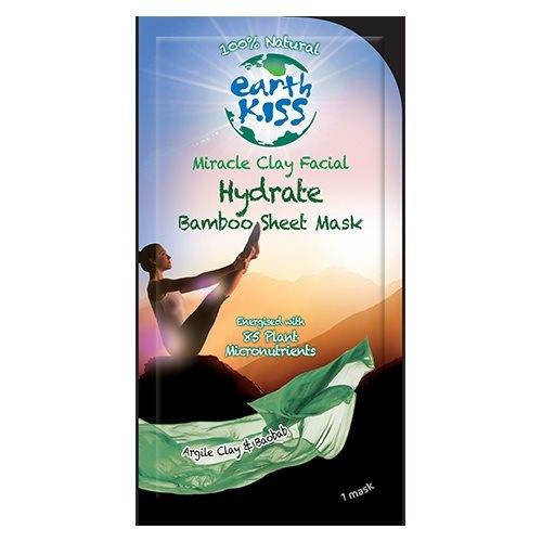 Ansigtsmaske Miracle clay facial Bamboo Sheet Mask Earth Kiss - 17 gram