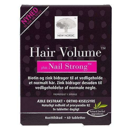 Hair Volume + Nails strong - 60 tabletter