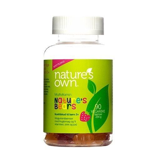 Multivitaminer Nature's Bear - 90 stk