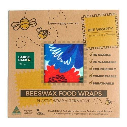 Beeswax Food Wraps 2 x Large - 1pk.