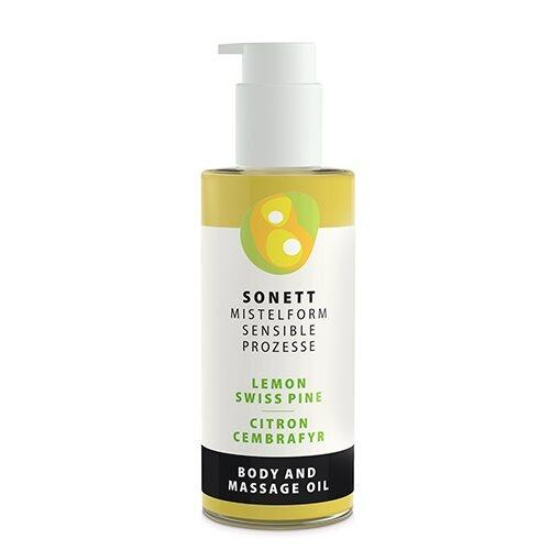Sonett Krops & Massageolie Citron/ Cembrafyr - 145 ml.