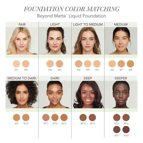 Jane Iredale Beyond Matte Liquid Foundation - M3 - 27 ml.