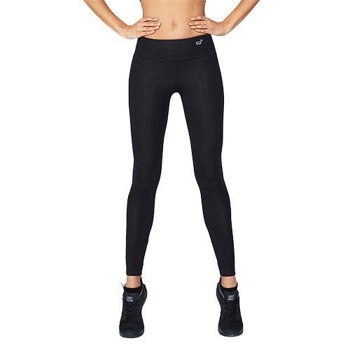 Sports tights Dame sort str. S - 1 stk