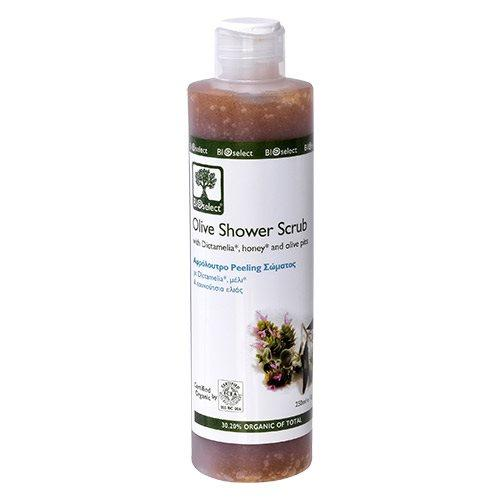 Bioselect Oliven Showergel Scrub - 200 ml.