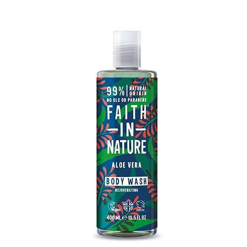Faith in Nature økologisk aloe vera shower gel/skumbad - 400 ml.