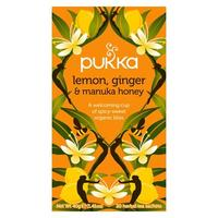Pukka Lemon, Ginger & Manuka honey te - 20 breve