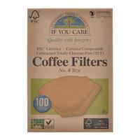Coffee filters no. 4 ubleget If you care 100 stk