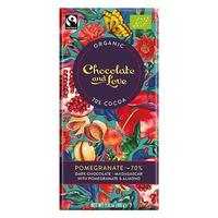 Chokolade Pomegranate 70% Chocolate and Love - 80 gram