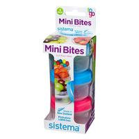 Mini bites to go 130 ml Grøn, blå, pink Sistema