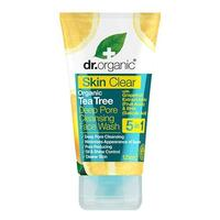 Organic tea tree face wash cleansing deep pore Dr. Organic Skin Clear  - 125 ml.
