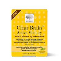 Clear Brain Active Memory Mega - 30 tabletter