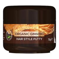 Mens hair style putty Ginseng Dr. Organic - 75 gram